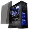 FRONTLINER Mid-Tower chassis - Black - Window - 3x 1200mm Blue LED Fan - 240mm Rad - GPU: 360mm - CPU Cooler: 170mm