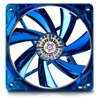 80mm (80x80x25mm) Apollish Fan - Detachable fan blades for easy cleaning - Twister Bearing - Blue circular Led with on/off function - 600~2100 RPM - 12.48~33.04 CFM - 15 dB min.