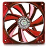 80mm (80x80x25mm) Apollish Fan - Detachable fan blades for easy cleaning - Twister Bearing - Red circular Led with on/off function - 600~2100 RPM - 12.48~33.04 CFM - 15 dB min.
