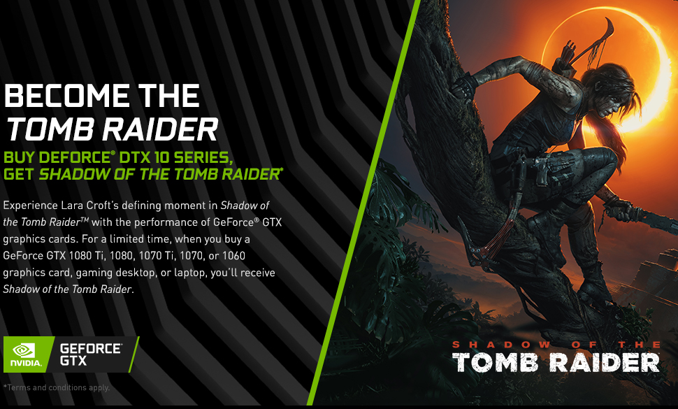 SOTTR - Shadow of the Tomb Raider - GeForce GTX 1060, 1070, 1070Ti